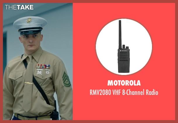 Motorola radio from Hitman: Agent 47 seen with Rupert Friend (Agent 47)
