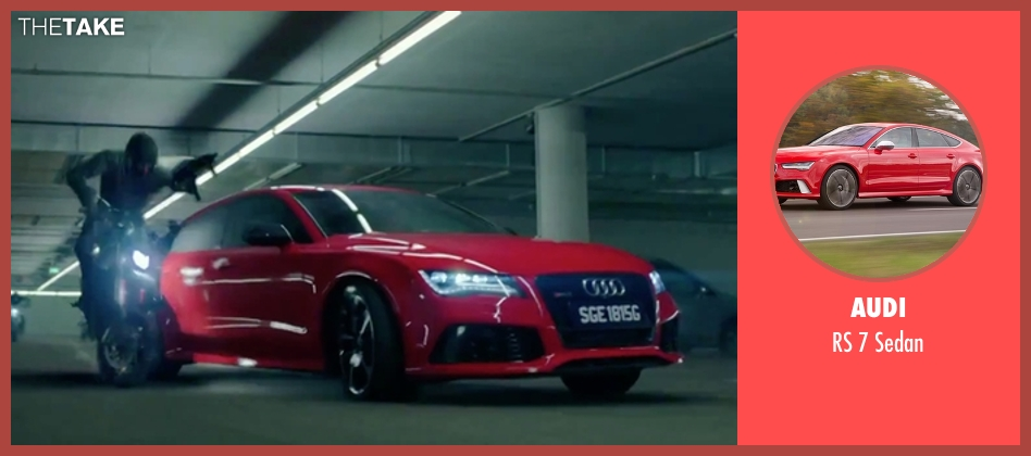 Audi sedan from Hitman: Agent 47 seen with Rupert Friend (Agent 47)