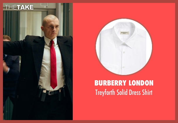 Burberry London white shirt from Hitman: Agent 47 seen with Rupert Friend (Agent 47)