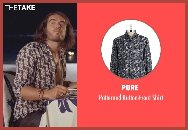 Pure  black shirt from Forgetting Sarah Marshall seen with Russell Brand (Aldous Snow)
