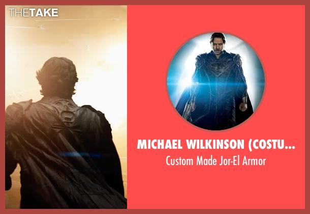 Michael Wilkinson (Costume Designer) armor from Man of Steel seen with Russell Crowe (Jor-El)