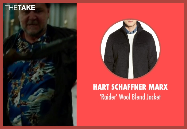 Hart Schaffner Marx black jacket from The Nice Guys seen with Russell Crowe (Jackson Healy)