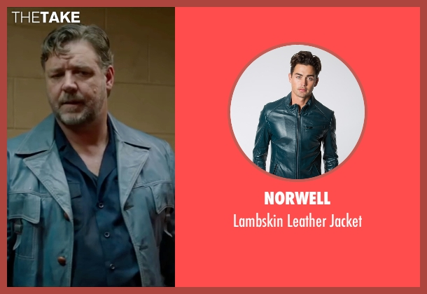 Norwell blue jacket from The Nice Guys seen with Russell Crowe (Jackson Healy)
