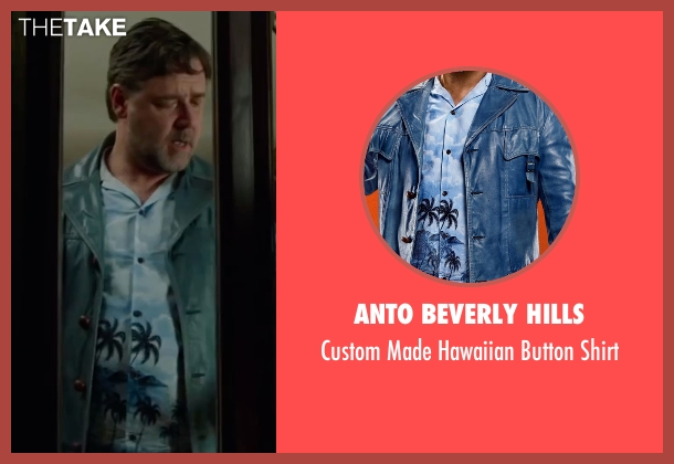 Anto Beverly Hills blue shirt from The Nice Guys seen with Russell Crowe (Jackson Healy)