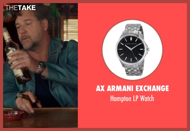 AX Armani Exchange silver watch from The Nice Guys seen with Russell Crowe (Jackson Healy)
