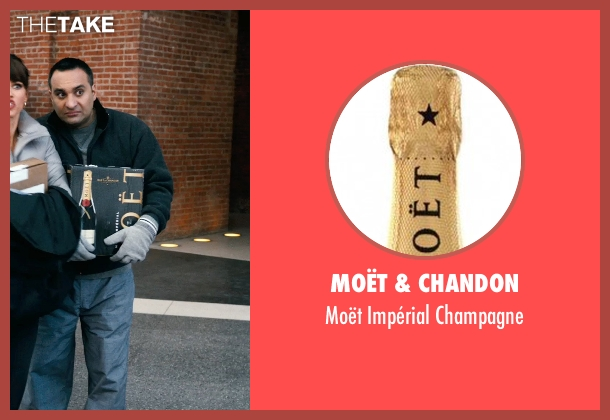 Moët & Chandon champagne from New Year's Eve seen with Russell Peters (Chef Sunil)
