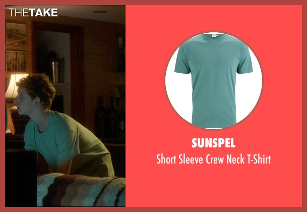 Sunspel green t-shirt from The D Train seen with Russell Posner (Zach Landsman)