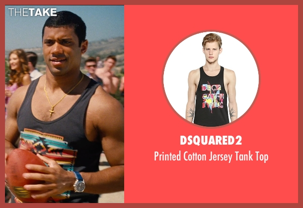 DSquared2 black top from Entourage seen with Russell Wilson (Unknown Character)