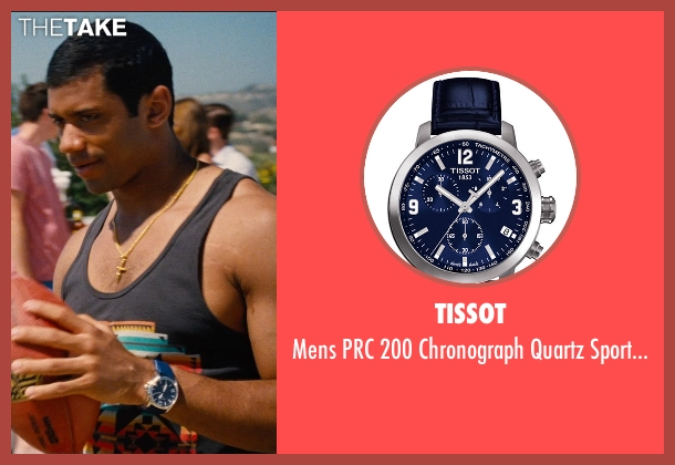 Tissot blue watch from Entourage seen with Russell Wilson (Unknown Character)