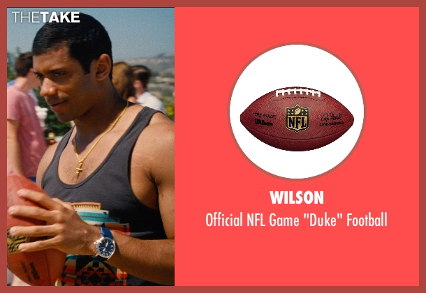 Wilson football from Entourage seen with Russell Wilson (Unknown Character)