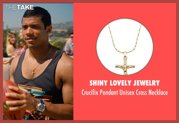 Shiny Lovely Jewelry gold necklace from Entourage seen with Russell Wilson (Unknown Character)