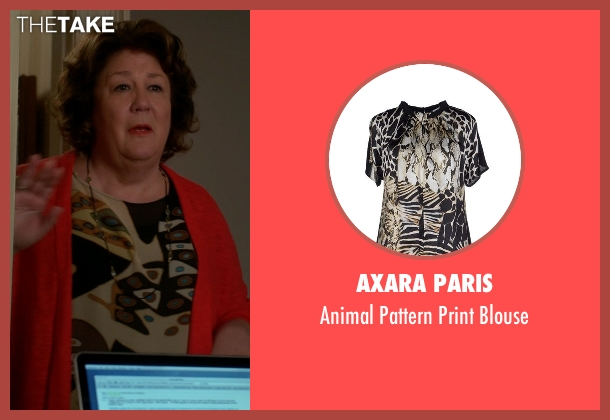 Axara Paris black blouse from The Good Wife seen with Ruth Eastman (Margo Martindale)