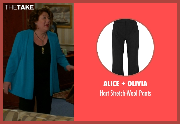 Alice + Olivia black pants from The Good Wife seen with Ruth Eastman (Margo Martindale)