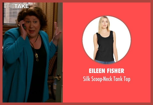 Eileen Fisher black top from The Good Wife seen with Ruth Eastman (Margo Martindale)