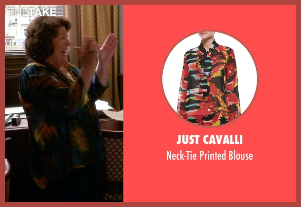 Just Cavalli	 blue blouse from The Good Wife seen with Ruth Eastman (Margo Martindale)
