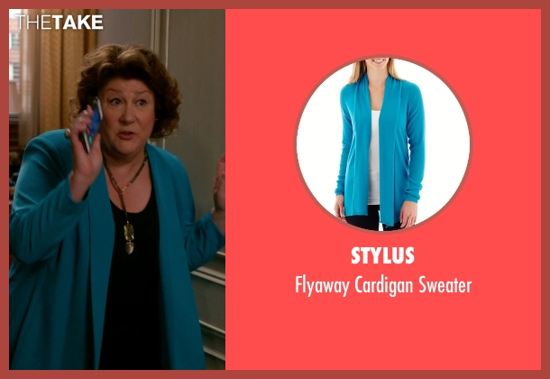 Stylus blue sweater from The Good Wife seen with Ruth Eastman (Margo Martindale)