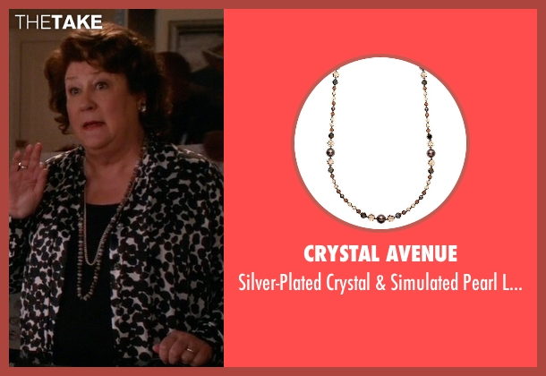 Crystal Avenue brown necklace from The Good Wife seen with Ruth Eastman (Margo Martindale)