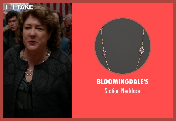Bloomingdale's gold necklace from The Good Wife seen with Ruth Eastman (Margo Martindale)