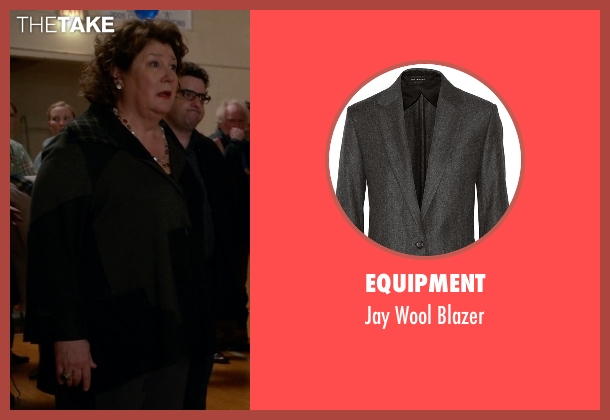 Equipment gray blazer from The Good Wife seen with Ruth Eastman (Margo Martindale)