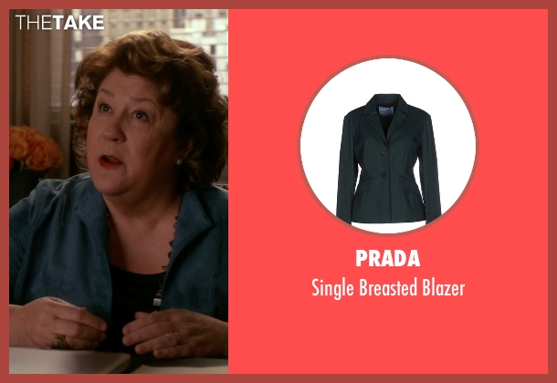 Prada green blazer from The Good Wife seen with Ruth Eastman (Margo Martindale)