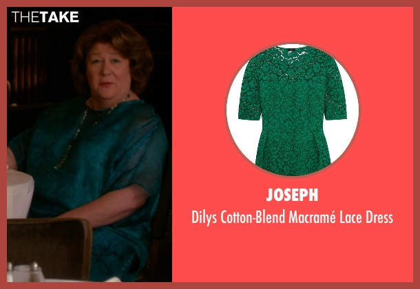 Joseph green dress from The Good Wife seen with Ruth Eastman (Margo Martindale)