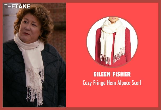 Eileen Fisher white scarf from The Good Wife seen with Ruth Eastman (Margo Martindale)