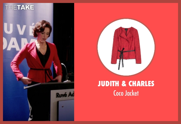 Judith & Charles red jacket from Arrow seen with Ruvé Adams (Janet Kidder)