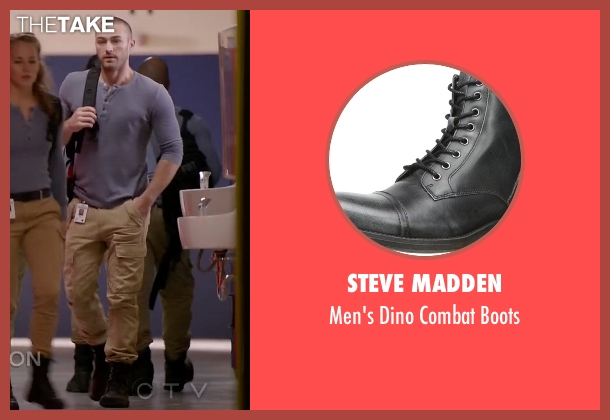 Steve Madden black boots from Quantico seen with Ryan Booth (Jake McLaughlin)