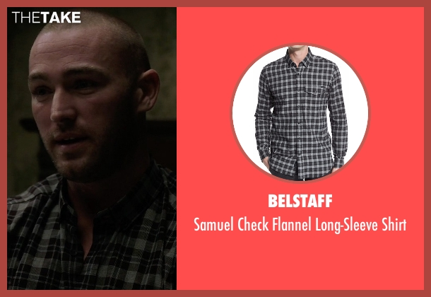 Belstaff black shirt from Quantico seen with Ryan Booth (Jake McLaughlin)