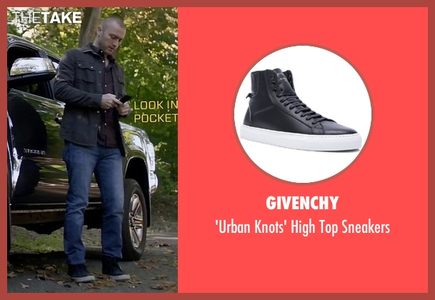 Givenchy black sneakers from Quantico seen with Ryan Booth (Jake McLaughlin)