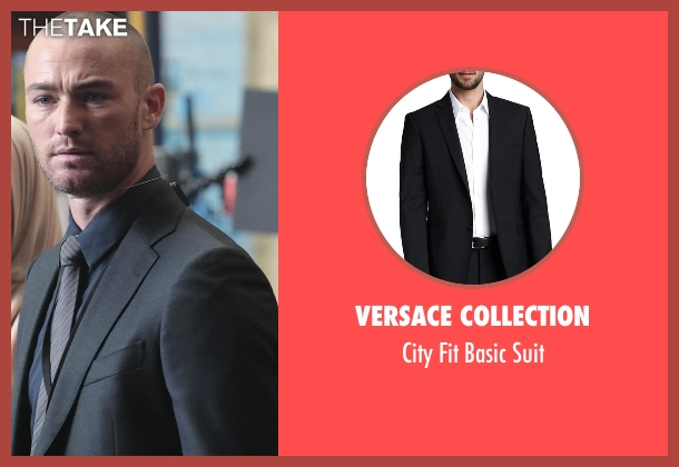 Versace Collection black suit from Quantico seen with Ryan Booth (Jake McLaughlin)