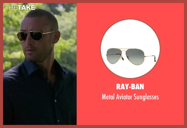 Ray-Ban black sunglasses from Quantico seen with Ryan Booth (Jake McLaughlin)