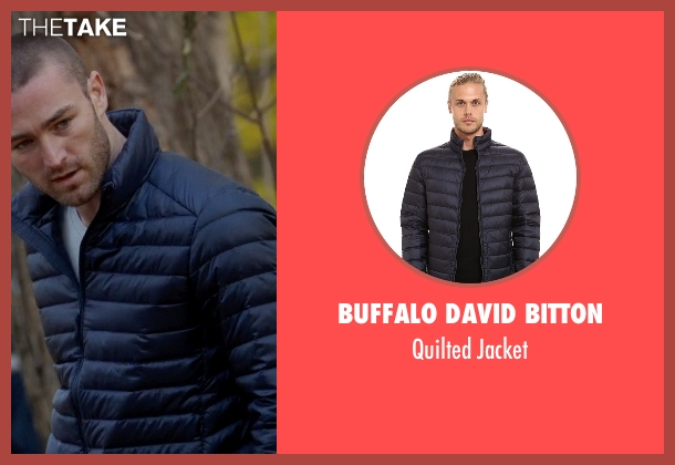 Buffalo David Bitton blue jacket from Quantico seen with Ryan Booth (Jake McLaughlin)