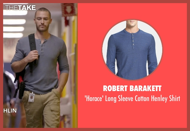 Scotch & Soda $53 blue tee from Quantico seen with Ryan Booth (Jake McLaughlin)