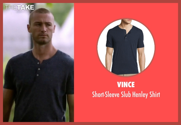 Vince blue shirt from Quantico seen with Ryan Booth (Jake McLaughlin)