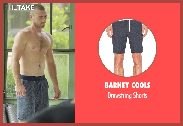 Barney Cools blue shorts from Quantico seen with Ryan Booth (Jake McLaughlin)