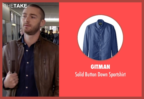 Gitman blue sportshirt from Quantico seen with Ryan Booth (Jake McLaughlin)