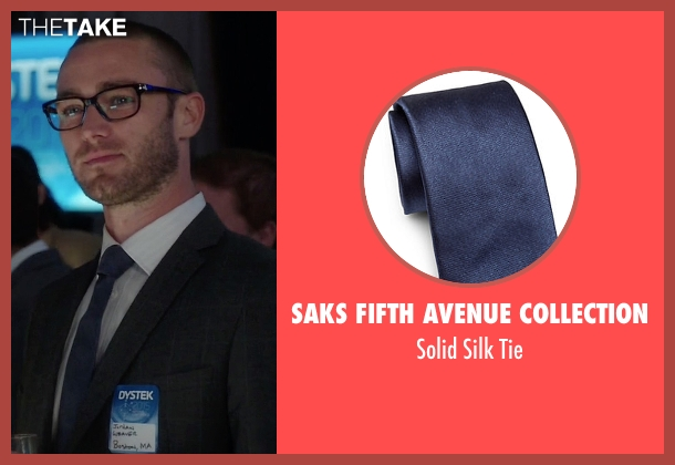 Saks Fifth Avenue Collection blue tie from Quantico seen with Ryan Booth (Jake McLaughlin)