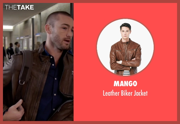 Mango brown jacket from Quantico seen with Ryan Booth (Jake McLaughlin)