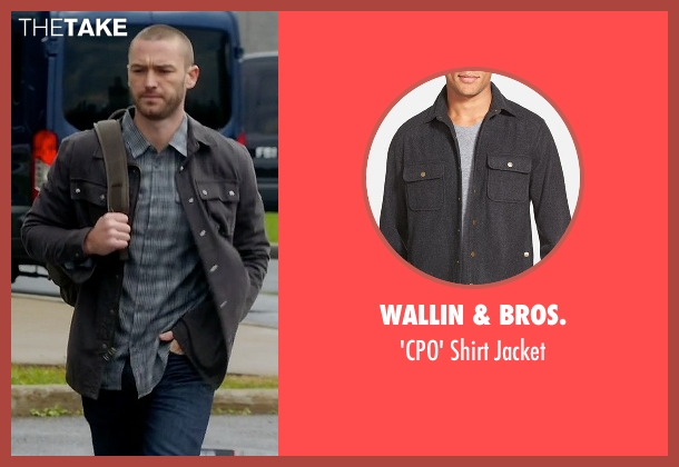 Wallin & Bros. gray jacket from Quantico seen with Ryan Booth (Jake McLaughlin)