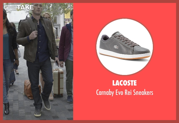 Lacoste gray sneakers from Quantico seen with Ryan Booth (Jake McLaughlin)