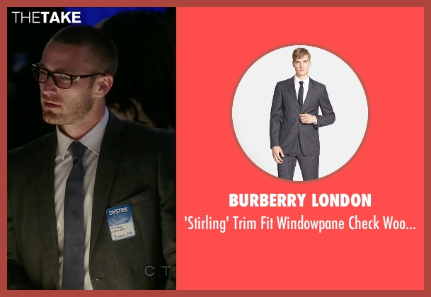 Burberry London gray suit from Quantico seen with Ryan Booth (Jake McLaughlin)