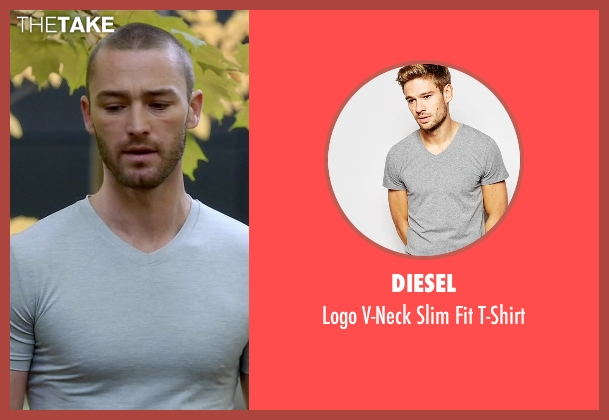 Diesel gray t-shirt from Quantico seen with Ryan Booth (Jake McLaughlin)
