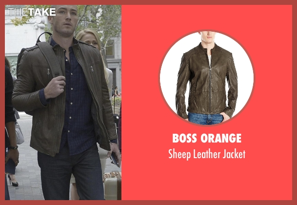 Boss Orange green jacket from Quantico seen with Ryan Booth (Jake McLaughlin)