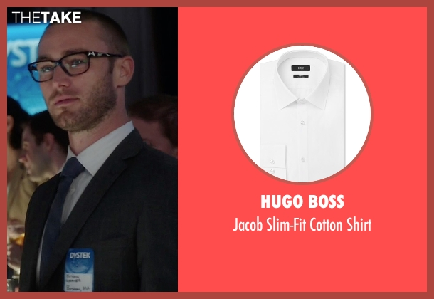 Hugo Boss white shirt from Quantico seen with Ryan Booth (Jake McLaughlin)
