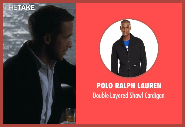 Polo Ralph Lauren black cardigan from Crazy, Stupid, Love. seen with Ryan Gosling (Jacob Palmer)