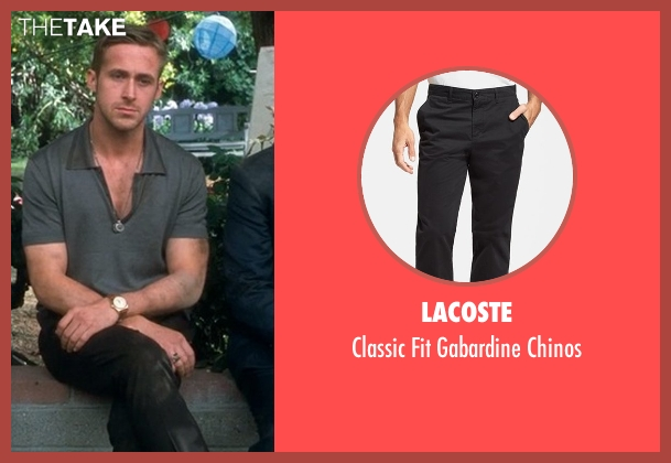 Lacoste black chinos from Crazy, Stupid, Love. seen with Ryan Gosling (Jacob Palmer)