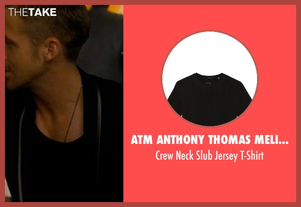 ATM Anthony Thomas Melillo black t-shirt from Crazy, Stupid, Love. seen with Ryan Gosling (Jacob Palmer)