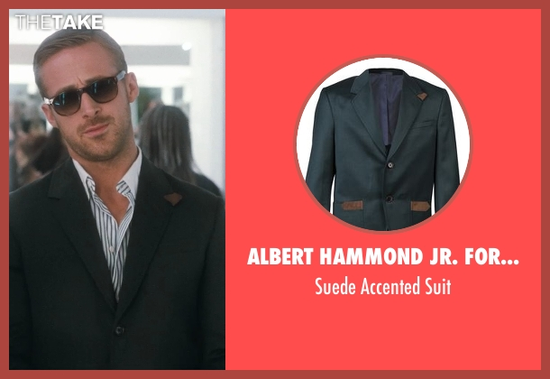 Albert Hammond Jr. for Confederacy green suit from Crazy, Stupid, Love. seen with Ryan Gosling (Jacob Palmer)