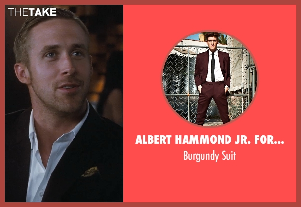 Albert Hammond Jr. For Confederacy Suit red suit from Crazy, Stupid, Love. seen with Ryan Gosling (Jacob Palmer)